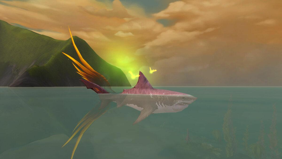 der Guppi gefangen im Körper eines Hais